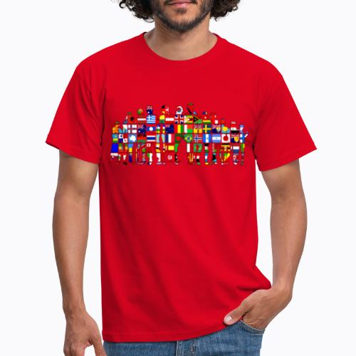 all the world - Men's T-Shirt