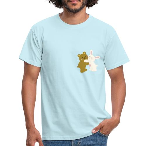 bear and bunny - Camiseta hombre