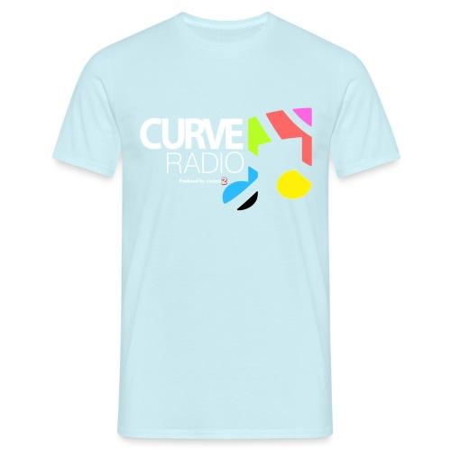 CurveRadioSquareWhite - Men's T-Shirt