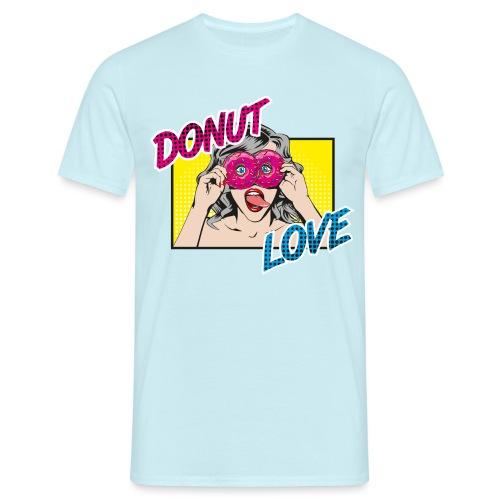 Popart - Donut Love - Zunge - Süßigkeit - Männer T-Shirt
