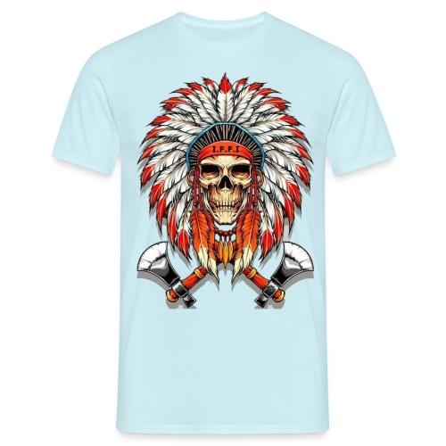 Idianer Skull gross - Männer T-Shirt