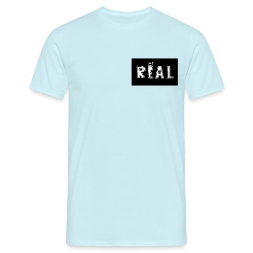 REAL (Black & White) - Mannen T-shirt