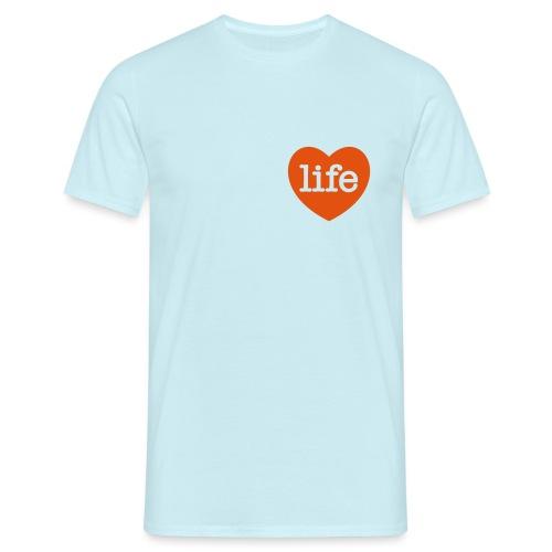LOVE LIFE heart - Men's T-Shirt