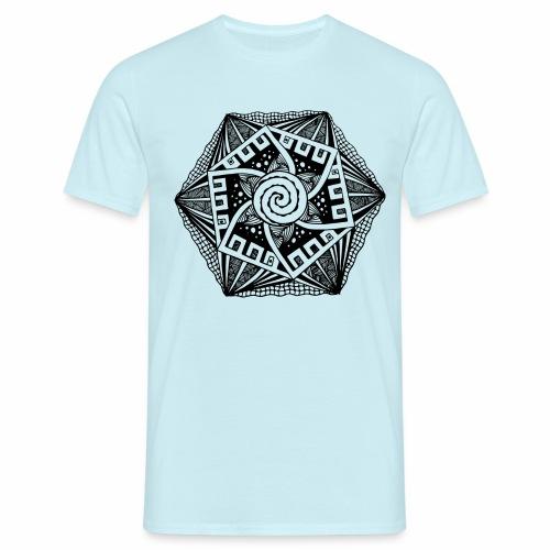 Sechseck black - Männer T-Shirt