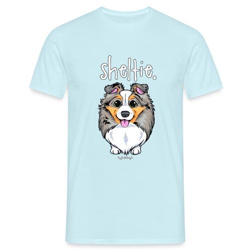 Sheltie Dog Cute 4 - Men's T-Shirt