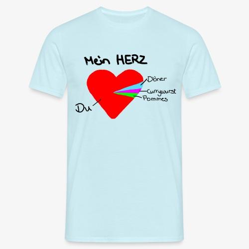 Herz Tortendiagramm 3 - Männer T-Shirt