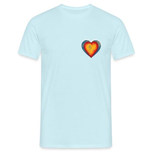 Warm lovely heart - Men's T-Shirt
