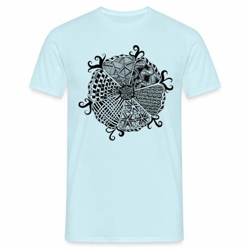 Blume Doodle - Männer T-Shirt