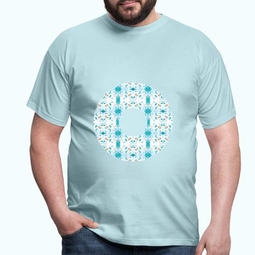 Hippie flowers donut - Men's T-Shirt