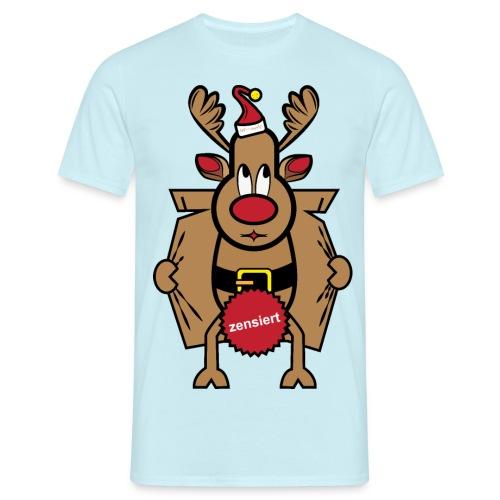 Dirty Rudolph zu Weihnachten als Geschenk - Männer T-Shirt