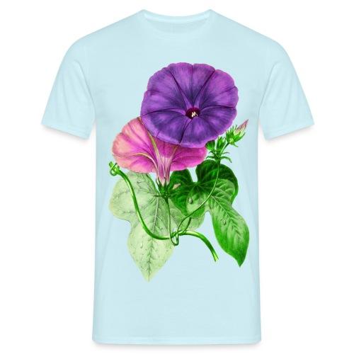 vintage mallow flower - Camiseta hombre