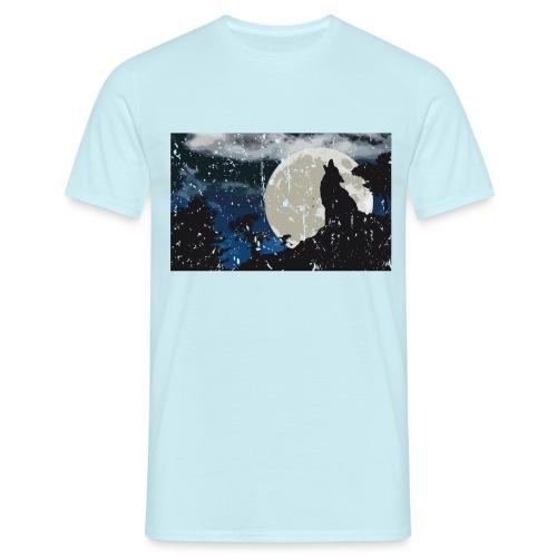 Wolf versus Mond - Männer T-Shirt