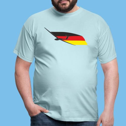 deutschlandflagge segelflugzeug Segelflieger - Männer T-Shirt