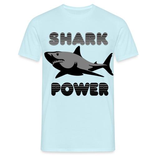 Shark Power Schwarz - Männer T-Shirt