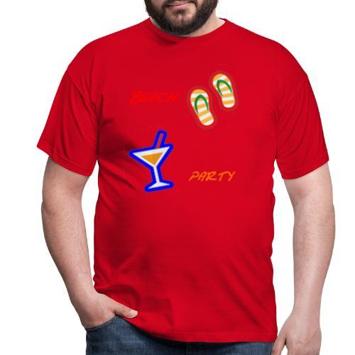 Beach Party Design - Männer T-Shirt