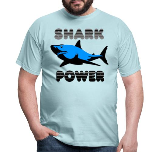 Shark Power Blau - Männer T-Shirt