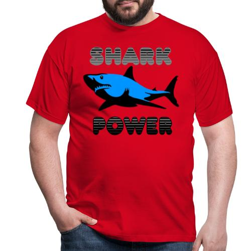 Shark Power Blau - Männer T-Shirt