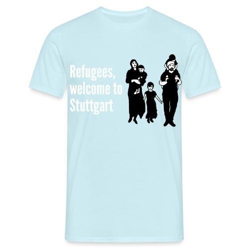 Refugees welcome - Männer T-Shirt
