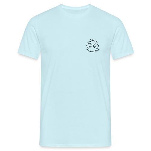 Zwei mit Bock - Brustlogo - schwarz - Männer T-Shirt