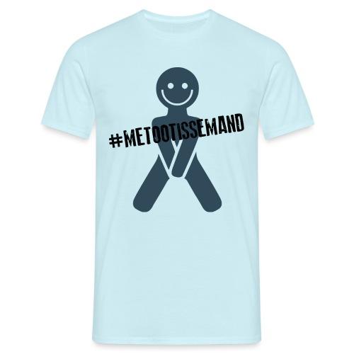 Sort metootissemand - Herre-T-shirt