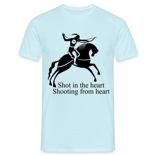 Shot in the Heart - Men's T-Shirt