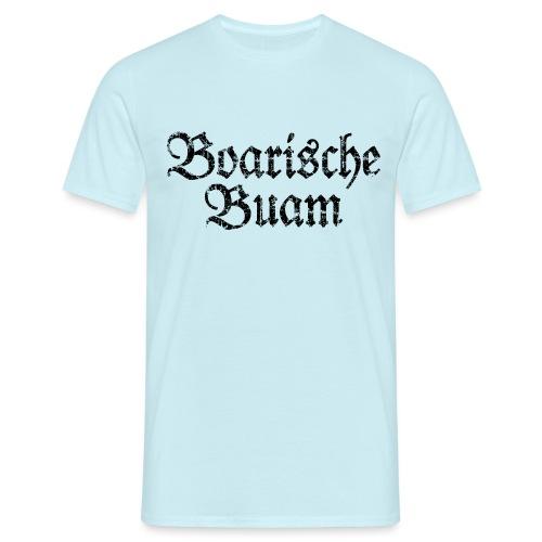 Boarische Buam Männer aus Bayern (Vintage Schwarz) - Männer T-Shirt