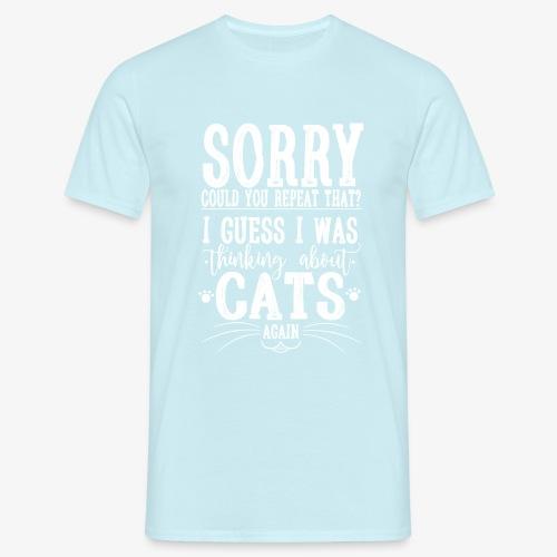 Sorry Cats II - Miesten t-paita