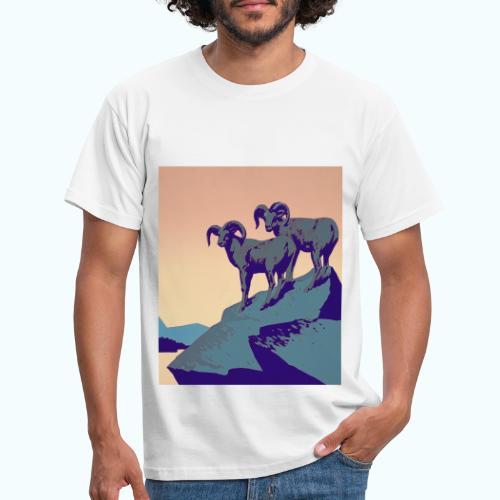 Vintage Capricorn Travel Poster - Men's T-Shirt