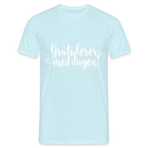 Gratulerer med dagen! - plagget.no - T-skjorte for menn