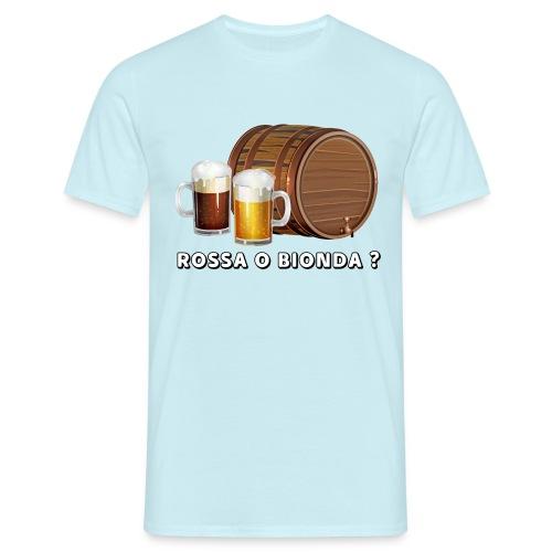 Rossa o Bionda ? - Maglietta da uomo