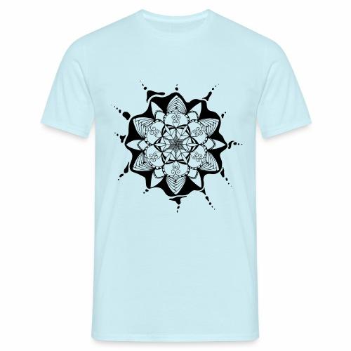 Flower Doodle black - Männer T-Shirt