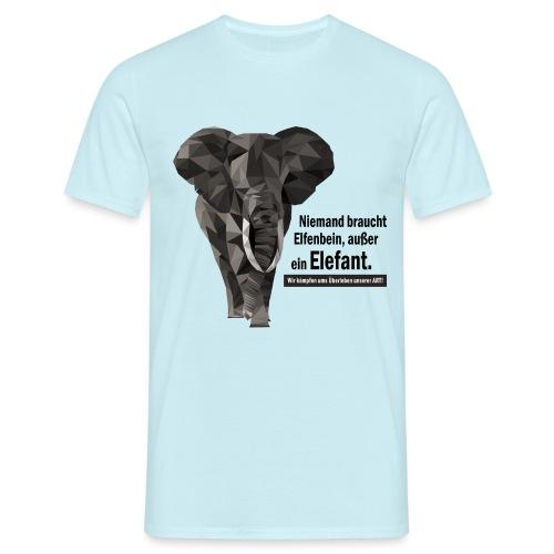 Niemand braucht Elfenbein, außer ein Elefant! - Männer T-Shirt
