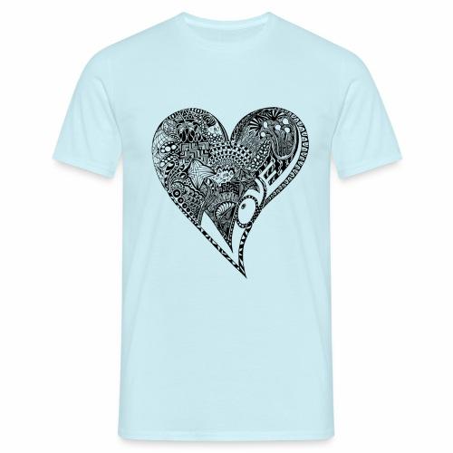 Heart black - Männer T-Shirt