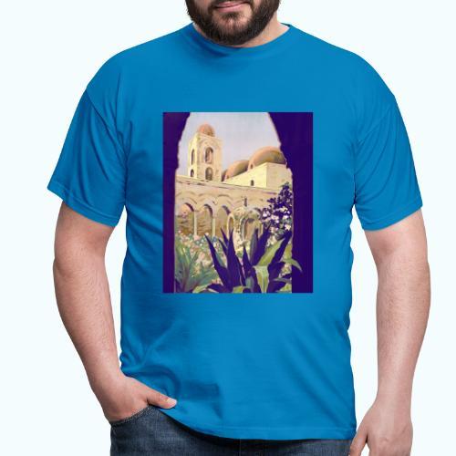 Palermo Vintage Travel Poster - Men's T-Shirt