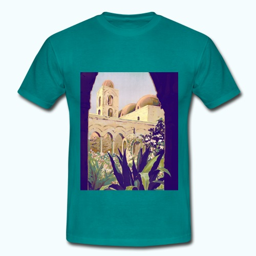 Palermo Vintage Travel Poster - Men's T-Shirt