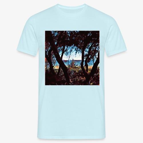 Vista mare dalla pineta - Maglietta da uomo