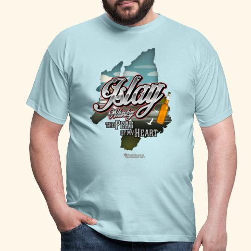 Whisky from Islay Peat of my Heart Tattoo Style - Männer T-Shirt