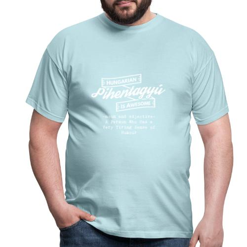 Pientagyu - Hungarian is Awesome (white fonts) - Men's T-Shirt