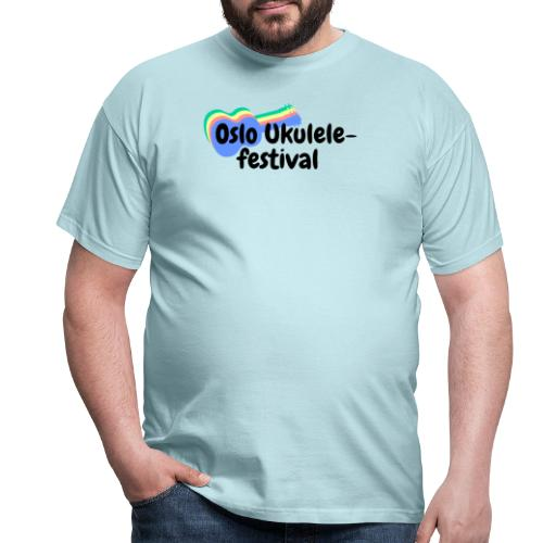Festival-logo i flere farger - T-skjorte for menn