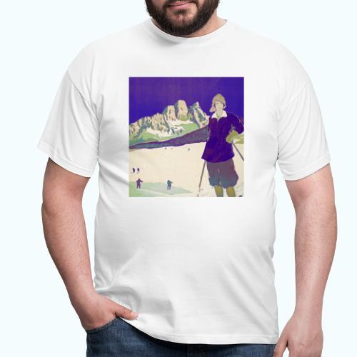 Ski trip vintage poster - Men's T-Shirt