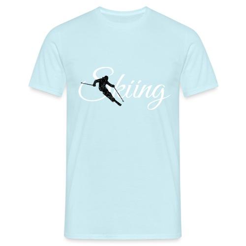 Skiing Skifahrer (Weiß) Wintersport Apres-Ski - Männer T-Shirt