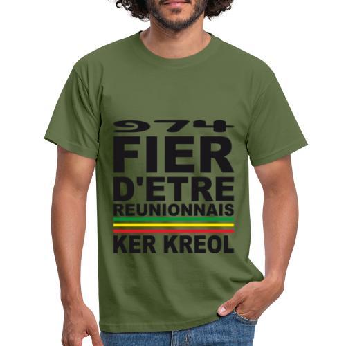 974 Fier d'être Réunionnais - 974 Ker Kreol v1.2 - T-shirt Homme