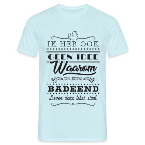 Badeend - Mannen T-shirt