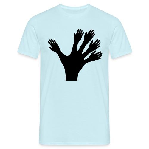 1000 Hände viel Arbeit wackeln machen tun schnell - Männer T-Shirt