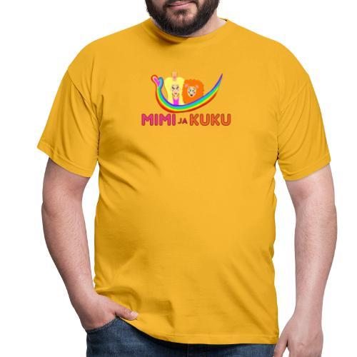 Mimi ja Kuku- sateenkaarilogolla - Miesten t-paita