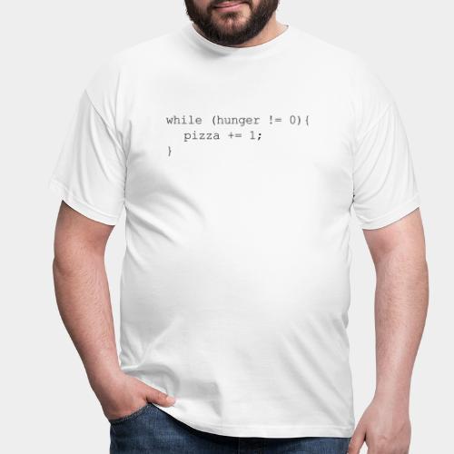 While Hunger Is Not Zero Black - Men's T-Shirt