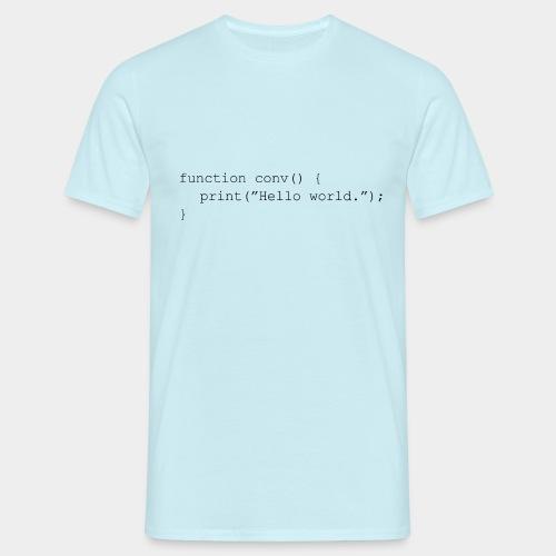 Conversation Function Black - Men's T-Shirt