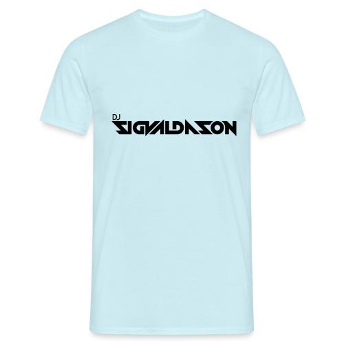 DJ logo sort - Herre-T-shirt