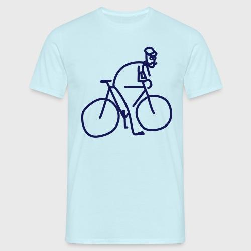 Vélo et cycliste à moustaches - T-shirt Homme