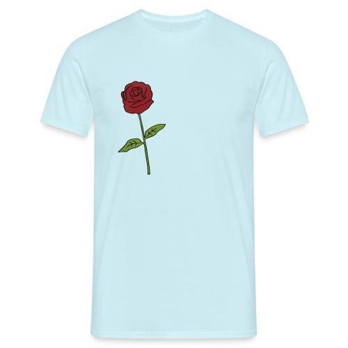 Rose: Text Einfügen - Männer T-Shirt